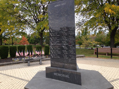 BOB FINNAN / GAZETTE The Vietnam Memorial was first dedicated in 1990. It was rededicated Monday. Its facelift is almost done, organizers say.