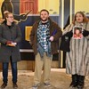 ADAM SHANKS — THE BERKSHIRE EAGLE <br /> Jennifer Wahr of the Elizabeth Freeman Center, Kenneth Mercure of Berkshire Pride, and activist Jahaira DeAlto speaks at a vigil for Christa Leigh Steele-Knudslien under the Mohawk Theater's marquee on Monday.