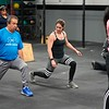 BEN GARVER — THE BERKSHIRE EAGLE<br /> Fitness coach Megan Arthur-Sayers works with a patient during a class at CrossFit in Great Barrington, Friday, January 4, 2019. Volunteers in Medicine is partnering with CrossFit Great<br /> Barrington to bring healthy habits and exercise to the nonprofit's<br /> low income patients who are at high risk of illness.