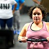 BEN GARVER — THE BERKSHIRE EAGLE<br /> Volunteers in Medicine Executive Director Ilana Steinhauer uses a rowing machine during a class at CrossFit in Great Barrington, Friday, January 4, 2019. Volunteers in Medicine is partnering with CrossFit Great<br /> Barrington to bring healthy habits and exercise to the nonprofit's<br /> low income patients who are at high risk of illness.