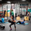 BEN GARVER — THE BERKSHIRE EAGLE<br /> Patients move through exercise station during a crossfit class at CrossFit in Great Barrington, Friday, January 4, 2019. Volunteers in Medicine is partnering with CrossFit Great<br /> Barrington to bring healthy habits and exercise to the nonprofit's<br /> low income patients who are at high risk of illness.