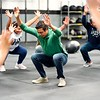 BEN GARVER — THE BERKSHIRE EAGLE<br /> David Torres leads a class through warm-up exercises at CrossFit in Great Barrington, Friday, January 4, 2019. Volunteers in Medicine is partnering with CrossFit Great<br /> Barrington to bring healthy habits and exercise to the nonprofit's<br /> low income patients who are at high risk of illness.