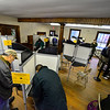 KRISTOPHER RADDER — BRATTLEBORO REFORMER<br /> Vermonters and New Hampshirites flock to the polls to cast their ballots during the rainy 2018 Midterm election on Tuesday, Nov. 6, 2018.