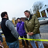 KRISTOPHER RADDER — BRATTLEBORO REFORMER<br /> Elizabeth Vick and Craig Hammond talk with Tristan Toleno, Vermont House Representative from Brattleboro, outside of the American Legion polling station on Tuesday, Nov. 6, 2018.
