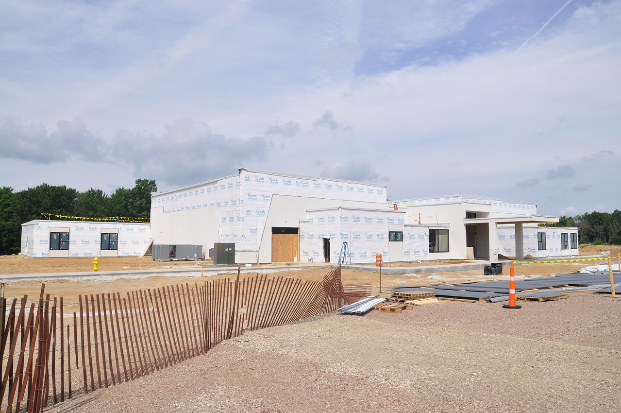 ASHLEY FOX / GAZETTE Radiant Life is building a new church at 844 Hartman Avenue in Wadsworth, overlooking Interstate 76. The 24,000-square-foot project, built by Craven Construction from Bath in Summit County, broke ground last October and is anticipated to be complete around Christmas.