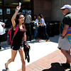 "University of Colorado freshman Jasmine Galimov yells with excitement after getting her ticket to see President Obama speak on Monday, April 23, at the Coors Event Center on the University of Colorado campus in Boulder. For more photos and video of people waiting in line for Obama tickets go to  <a href=""http://www.dailycamera.com"">http://www.dailycamera.com</a><br /> Jeremy Papasso/ Camera"