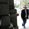 Former University of Colorado professor Ward Churchill enters the Colorado State Capitol building in Denver on Thursday, June 7, for his free speech case hearing at the Colorado State Supreme Court. <br /> Jeremy Papasso/ Camera