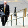 University of Colorado Chancellor Phil DiStefano walks up the stairs to the Colorado State Capitol building in Denver on Thursday, June 7, for Ward Churchill's free speech case hearing at the Colorado State Supreme Court. <br /> Jeremy Papasso/ Camera