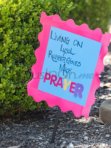 A sign is posted during the parade at Wateron at Shiloh, a healthcare, rehabilitation and assisted living center, in Tyler on Thursday, May 7, 2020. Families of residents were encouraged to join the parade to celebrate the upcoming Mother's Day holiday as visitors are not allowed inside their facilities at this time due to COVID-19 precautions.
