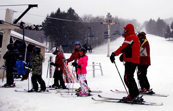 Snow at Bousquet Ski Area 122613