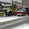 Snow plows patroling North St. during a snow storm on Tuesday afternoon. December 10th 2013 Holly Pelczynski/Berkshire Eagle Staff