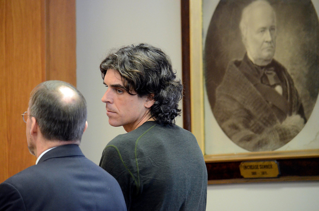 . Christopher Blair is arraigned in  South Berkshire District Court (Great Barrington)  for the robbery of the Lee Bank branch in Stockbridge, Thursday March 20, 2014.  Ben Garver / Berkshire Eagle Staff / photos.berkshireeagle.com