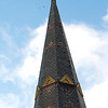 Kayla Rice/Reformer<br /> The steeple on St. Charles Church in Bellows Falls was hit by lightning during storms on Thursday.