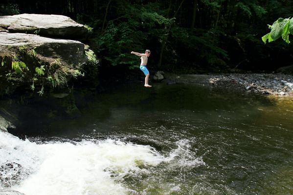 Cooling off at Bellevue Falls-070214