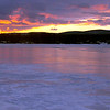 The sun sets on Pontoosuc Lake in Pittsfield Monday evening. (January 6th 2014 Holly Pelczynski/Berkshire Eagle Staff)