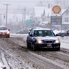motorists navigate around Pittsfield on Tuesday afternoon during the storm that hit the area for most of the day. December 17th 2013 Holly Pelczynski/Berkshire Eagle Staff