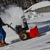 KRISTOPHER RADDER — BRATTLEBORO REFORMER<br /> Bertie Sprague uses a snowblower while clearing his driveway on Myrtle Street on Wednesday, Jan. 30, 2019.