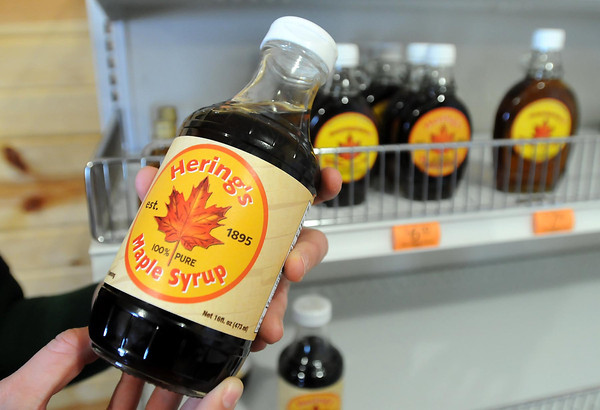 A finished product of Hering's Maple Syrup. Photo by John Cross