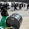 Members of the Governaires Drum Corps got into the spirit by donning gorilla suits while playing for runners at the start of the Gorilla Fun Run Saturday at Minnesota State University.