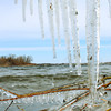 Mild temperatures accompanied by strong winds this weekend cleared south-central Minnesota lakes of ice.  But in true Minnesota fashion, spring's progress will be measured  two steps forward, one step back. Snow and unseasonably cold temperatures once again are predicted. Photo by John Cross.