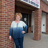 Cheri Brown, owner of Diamond Dust Bakery, outside of the bakery's new location on Sunrise Drive in St. Peter. Photo by Jackson Forderer