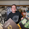 Carl Nordmeier, the owner of Tune Town, in the used record section in the basement of the music store. Tune Town will be participating in Record Store Day 2017, a nationwide day celebrating independent record stores. Photo by Jackson Forderer