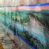 Flood wall mural