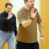 Matt Lauters demonstrates a tai chi move during World Tai Chi and Quigong Day Saturday at the St. Peter Community Center. Photo by Pat Christman