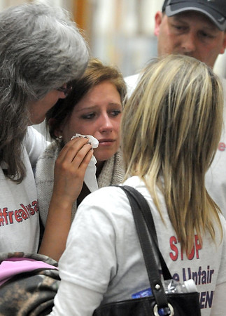 during an expulsion hearing Thursday at United South Central High School. Photo by Pat Christman