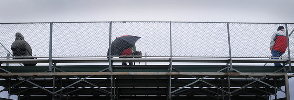 A stiff breeze, sprinkles and temperatures in the 40s meant MSU baseball fans in the cheap seats had plenty of elbow room on Wednesday as they watched the Mavericks take on St. Cloud State.. Photo by John Cross