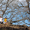 A pair of walkers enjoy a nice day on a trail along the bluff Friday in Sibley Park. Photo by Pat Christman