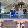 Brooke Linder (left) and Brittany Linder have been managing Terrace View for 364 days on Thursday, and will open the course with exactly one year of ownership today. The newly remodeled club house includes a patio bar, pictured here. Brittany said that the delayed opened day made the remodel a little less stressful. Photo by Jackson Forderer