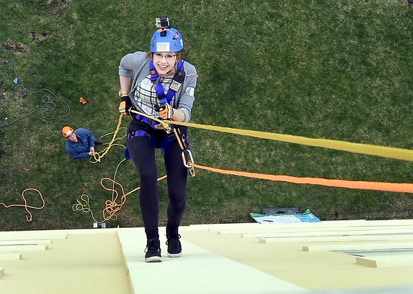 Deanna rappelling 2