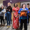 A student, faculty and staff choir directed by assistant professor Aaron Humble sings at the 40th anniversary of the LGBT Center on the Minnesota State campus on Wednesday. Photo by Jackson Forderer