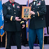 Lieutenant Colonel Dennis Murphy (right) presents an ROTC Hall of Fame plaque to Brigadier General Jeff Bertrand at a gala held on Friday. Photo by Jackson Forderer