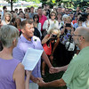 John Cross<br /> Rob Thomas (left) and Joe Strong exchange wedding vows in front of family and friends during a ceremony at the Nicollet County Courthouse