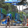 Hiniker Pond playground construction nearly complete