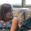 "Sister Adelyn Vokal (right) and Natalie Jandera, 9, talk with each other during their weekly get together at Good Counsel on Saturday. Natalie, a Loyola student, started to write to Vokal in third grade and asked to continue to see her after the school year was over. ""I like that we can sit down and it can turn into an hour,"" Natalie said. Photo by Jackson Forderer"
