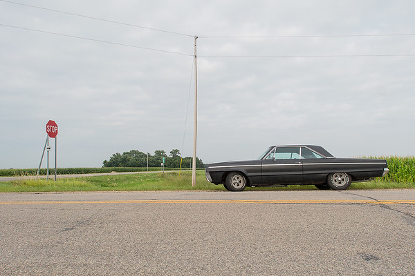 An abandoned Dodge Polara at the intersection of Highway 19 and County Road 9 in rural Arlington. Photo by Jackson Forderer