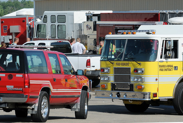 John Cross<br /> A building in the Brown Printing complex on the west edge of Waseca was the site of a chemical spill on Thursday.