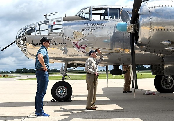 Veterans take a ride in a WWII bomber