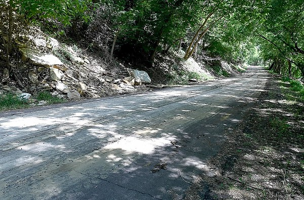 Judson Bottom Road rocks moved