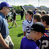 John Cross<br /> Okay, so it wasn't exactly Adrian Peterson. But young Vikings fans got an opportunity to meet U.S. Sen. Al Franken during a visit to Vikings training camp on Wednesday. Franken later met with local business, education and community leaders at South Central College about efforts to train skilled workers.