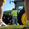 John Cross<br /> Youngsters await their turn for tractor ride during Farm Camp Minnesota at Farmamerica on Monday.
