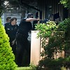 Police enter armed man's home