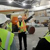 Civic center expansion tour