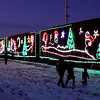 The Canadian Pacific Holiday train stretches along the tracks  during its stop in New Ulm Wednesday.