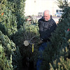 Pat Christman<br /> Gary and Gwen Borchardt carry their selection out of the Y's Club tree lot Saturday.