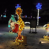Some of the characters from past light shows on North Mankato's Mary Circle were donated to the Kiwanis Holiday Lights.