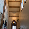 Part of Roxie Mell-Brandts' renovation to the old First Baptist Church, now the Chapel of Peace, includes a new entryway, connecting the chapel and the community room. Mell-Brandts said the doors come from an old church in Ohio and the bricks of the church were made in the nearby Watonwan River. Photo by Jackson Forderer